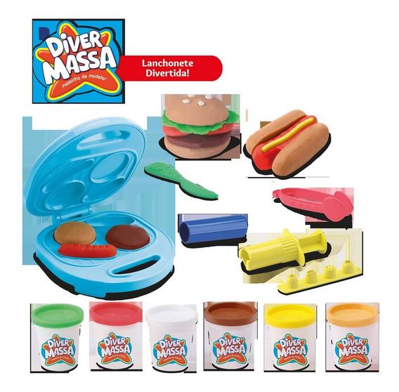 Brinquedo Massinha De Modelar Lanchonete Divertida Divetoys