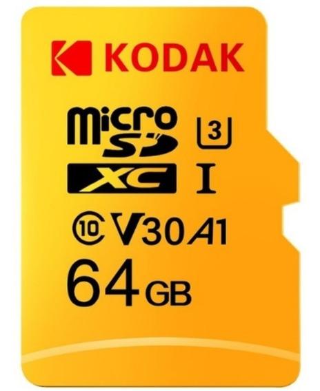 Cartão Micro Sd 64g Kodak Classe 10 Ultra 3 E Leitor Cartão
