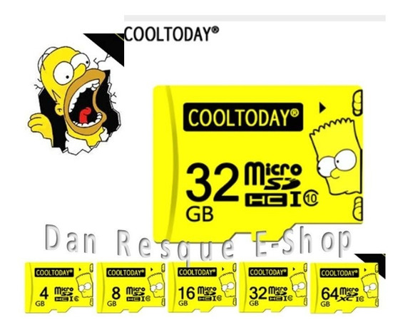 Cartão De Memória 32 Gb Classe 10 The Simpson