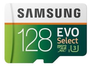 Cartão Microsd Samsung Evo Select 128gb Original Lacrado