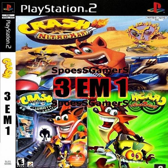 Crash Bandicoot (3 Jogos) Ps2 Desbloqueado Patch