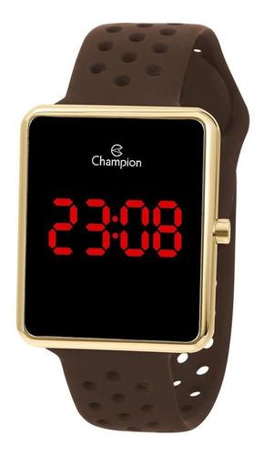 Relógio Champion Feminino Led Digital Dourado Ouro Chocolate