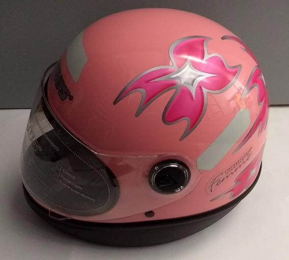 Capacete Taurus F1 Rosa Tamanho 60