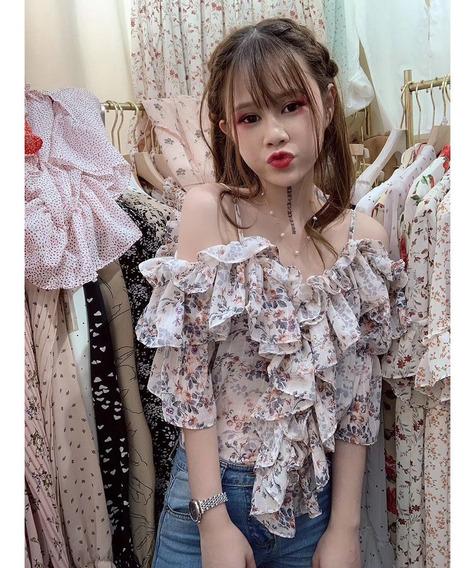 Mulheres Floral Impressão Blusa Casual Solto Camisola Camis