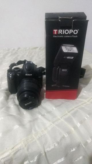 Camera Nikon D5000 E Flash Da Triopo