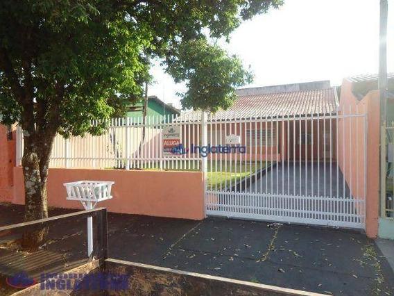 Casa Com 3 Dormitórios Para Alugar, 80 M² Por R$ 720/mês - Tarobá - Londrina/pr - Ca0888