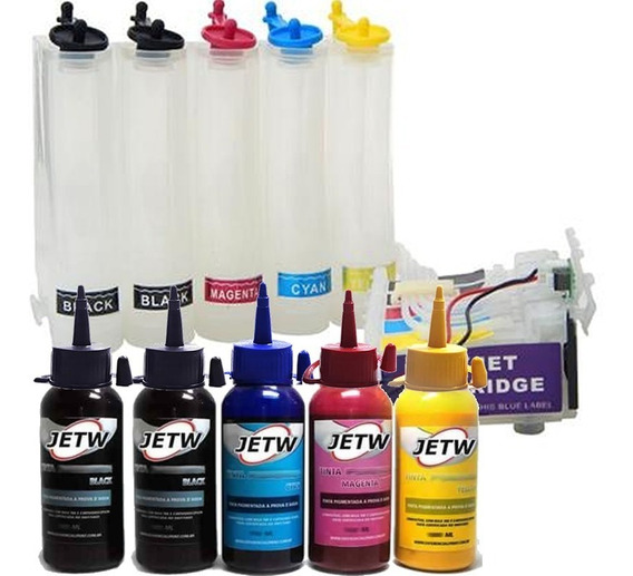 Bulk-ink Tx525fw Tx525f Tx525 Chip Reset + 500ml Tinta