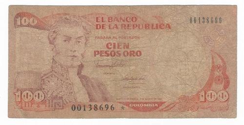 Imagen 1 de 3 de Billete  100 Pesos Reposicion Estrella Iniciar Coleccion