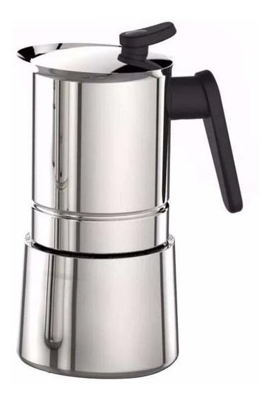 Cafetera Pedrini Steel Moka 6 Pocillos Acero inoxidable