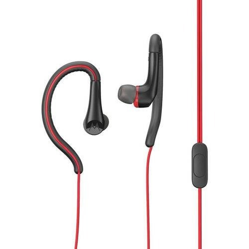 Fone De Ouvido Motorola Earbuds Sport Com Microfone Vermelho