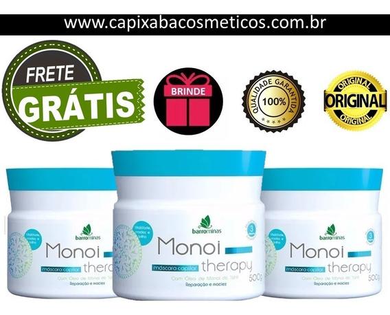 Kit Mascara Monoi Therapy Barrominas Reparacao E Maciez 500g