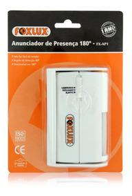 Kit 2x Anunciador Sensor De Presença Foxlux Fx-ap1 180 Graus
