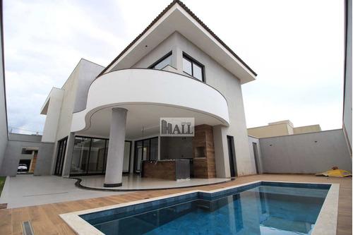 Casa À Venda Condomínio Damha Vi Com 3 Quartos, 4 Vagas E 390m² - V5927