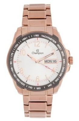 Relógio Champion Masculino Aço Rosê Ca30418h