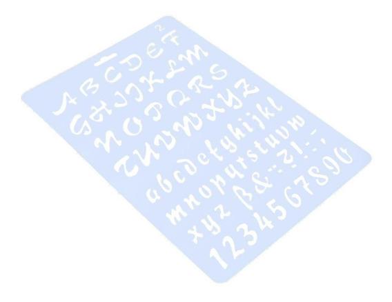 Letras Números Modelo Régua Diy Foto Álbum Oco Stencils