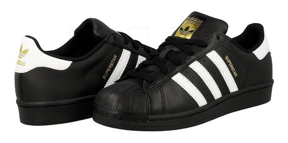 Zapatillas adidas Superstar Negra Cuero. Envio Gratis!