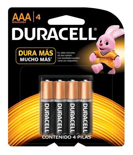 Pilas Aaa Duracell Alcalinas Blister X 4 Uni.