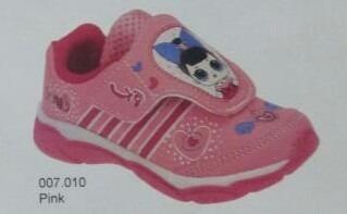 Tenis Infantil Menina Com Luz Play Kids Lol Rosa 7010