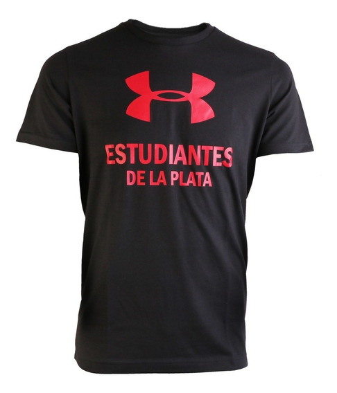Remera Under Armour Estudiantes De La Plata Big Logo Negra