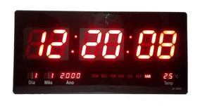 Relógio Parede Digital Led Gigante Data Termometro 46x23cm