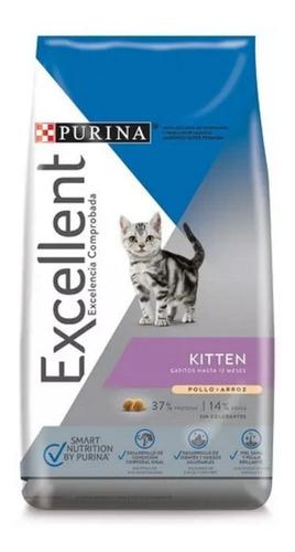 Imagen 1 de 1 de Alimento Excellent Kitten para gato de temprana edad sabor pollo/arroz en bolsa de 1kg