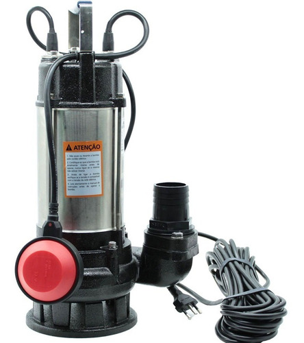 Imagem 1 de 3 de Bomba Submersa Limpa Fossa Aço Inox 1.0hp  Worker Rot  127v