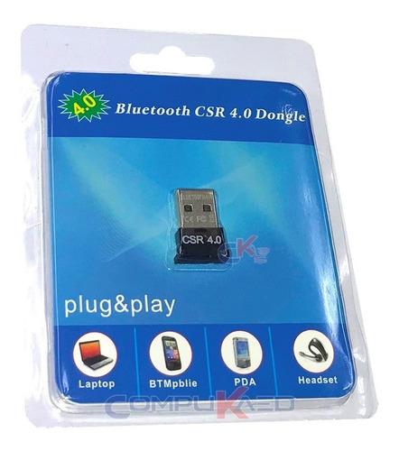 Mini Usb Bluetooth 4.0 Trautech Para Pc O Laptop 20 Metros