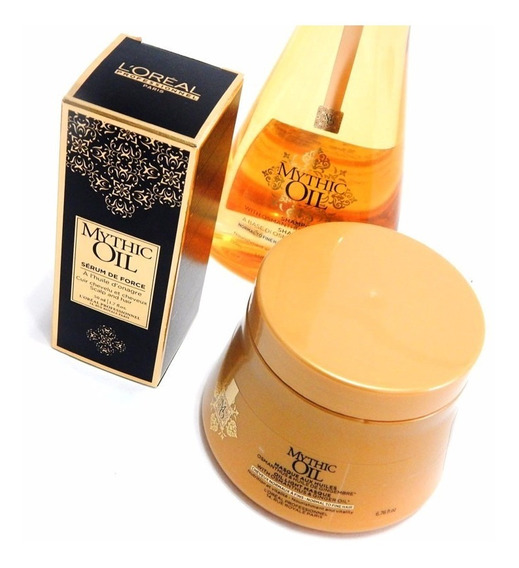 Loreal Mythic Oil Shampoo + Mascara + Aceite Fortalecedor