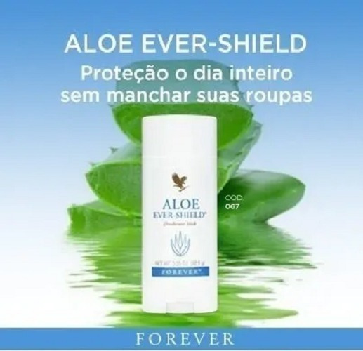 30x Desodorante Natural Forever Ever-shield Original