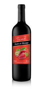 Cooler De Vinho Tinto Com Suco De Morango 720ml - Frank