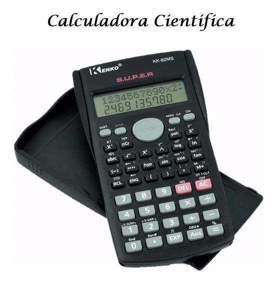 Calculadora Científica Kenko 240 Funções Display 2 Linhas