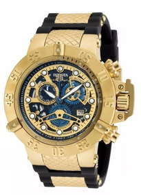 Relógio Zk209 Invicta Subaqua 18526 Dourado Top + Caixa