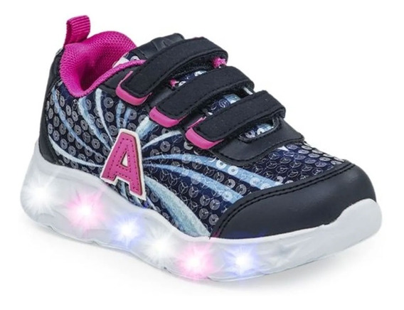Zapatillas Addnice Starlight Abrojo Con Luces 0800