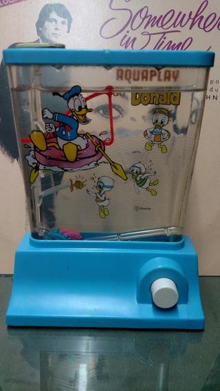 Aquaplay Pato Donaldo Pescaria Brinquedo Antigo Estrela
