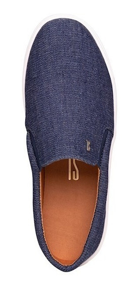 Tênis Slip On Santa Lolla Azul Jeans