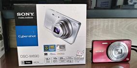 Câmera Digital Sony Cyber-shot Dsc-w690 16.1mp 10x Zoom