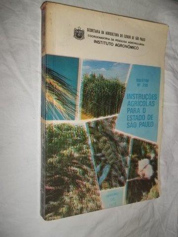 * Livro - Instrução Agricolas Para O Estado De São Paulo