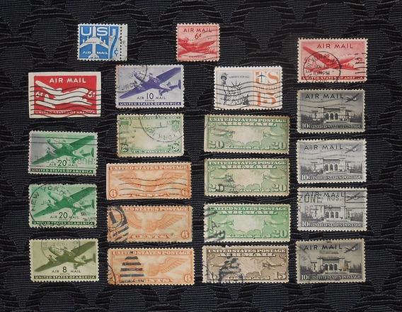 Estampillas Eeuu Estados Unidos Air Post Lote 2