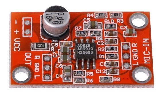 Placa Pré Amplificador De Microfone Canal Duplo Stéreo