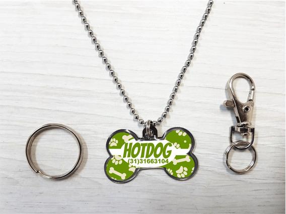 Pingente Personalizado P/ Cães Patinhas Verdes -