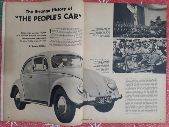 Revista Cars 1953 Vw Fusca Alemão Packard Mercedes Simplex