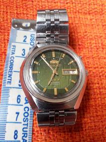 Relógio Antigo Orient Mostrador Verde Automático 21 Jewels