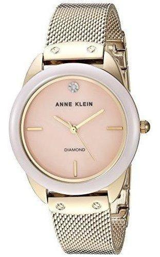 Relógio Analógico Anne Klein Diamante 3258-lpgb Feminino - Dourado