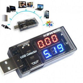 Kit 2 Voltímetro Amperímetro Digital Usb Testador M.e
