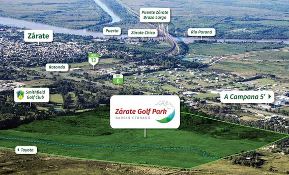 Lotes Zarate Golf Park - 10 Lotes A $690.000 - Imperdible!