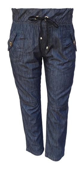 Calça Jeans Feminina Clochard De Elástico Plus Size
