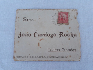 Envelope Carta 1910 Pedras Grandes Jaguaruna Sc