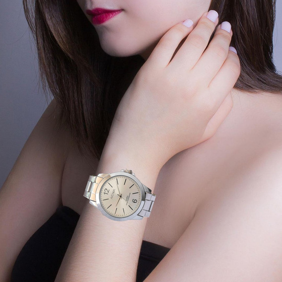 Relógio Prateado Feminino Nowa Original Prova D´água