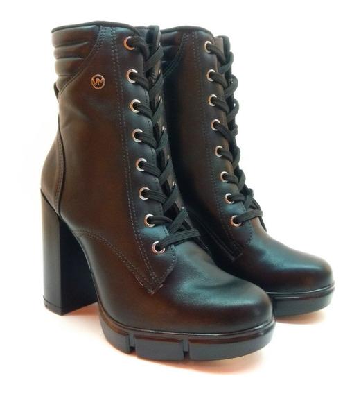 Botas Borcegos Mujer Taco Viamarte Art 20-7005 Zona Zapatos