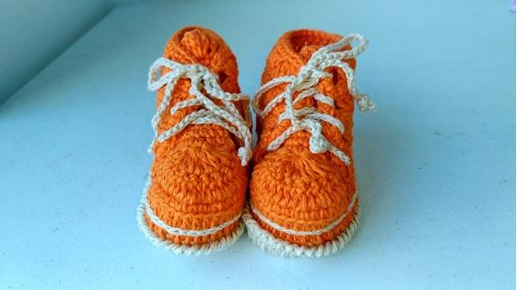 Sapatinhi Bota Bebê Crochê Unissex Com Caixa Frete Grátis